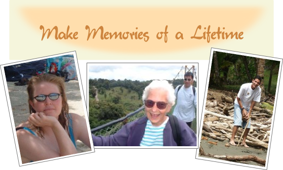Make Memories - sunbather, canopy, cracking a coconut